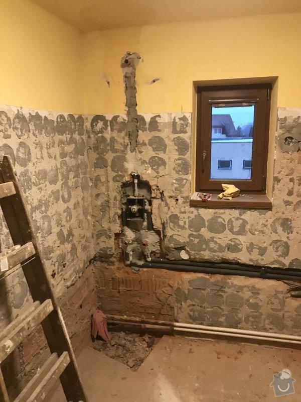 Bourací práce při rekonstrukci koupelny.
